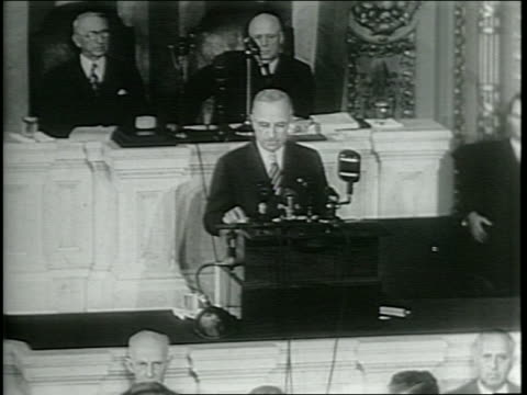 newsreel / railroad labor crisis / in front of congress, truman addresses the nation for a second time regarding the railway labor crisis /... - occurrence stock videos & royalty-free footage