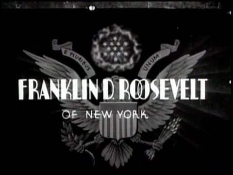 newsreel / some audio / profile of president franklin roosevelt as he becomes president in 1933 / title card reads our next president franklin d... - theodore roosevelt us president stock videos & royalty-free footage