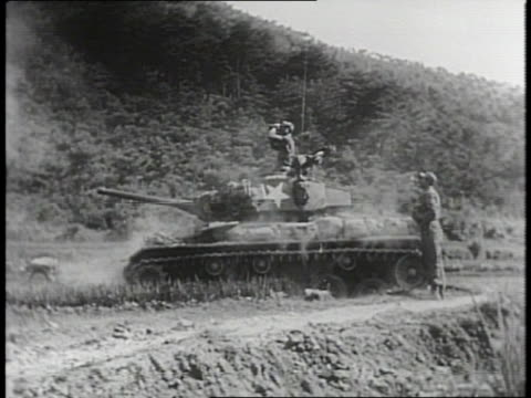 newsreel/korea/pohang taegu/fronts aflame/photography by department of defense - department of defense stock videos and b-roll footage