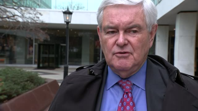 newt gingrich interview newt gingrich interview usa washington dc ext congressman newt gingrich towards from building / newt gingrich interview sot... - inauguration into office stock videos & royalty-free footage