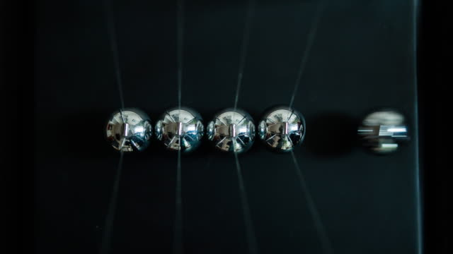 newton's cradle slow motion - continuity stock videos and b-roll footage