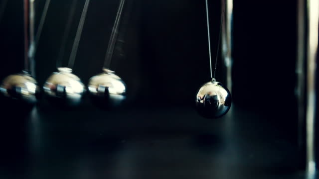 newton's cradle slow motion - repetition stock videos & royalty-free footage