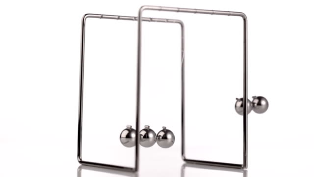 newton's cradle - five objects stock videos and b-roll footage