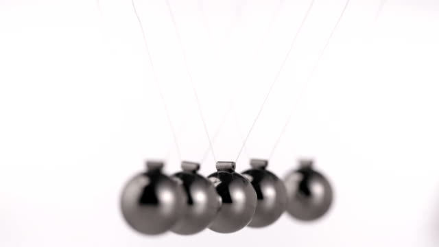 newton's cradle - ball stock videos and b-roll footage