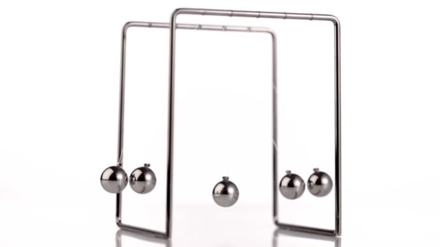 newtons cradle - gravitational field stock videos & royalty-free footage