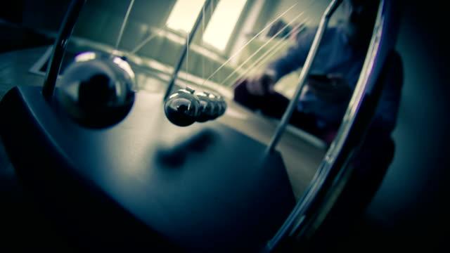 newton's pendulum - impact stock videos & royalty-free footage