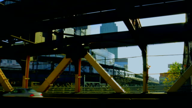 new-york view at railroad from highway - level crossing stock videos & royalty-free footage