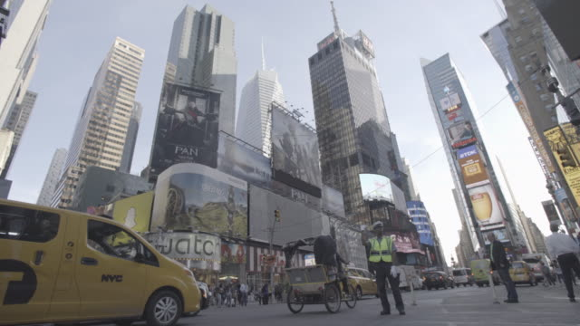 newyork_4k_manhatten_timessquare_police_open_2 - midtown new york city stock videos and b-roll footage