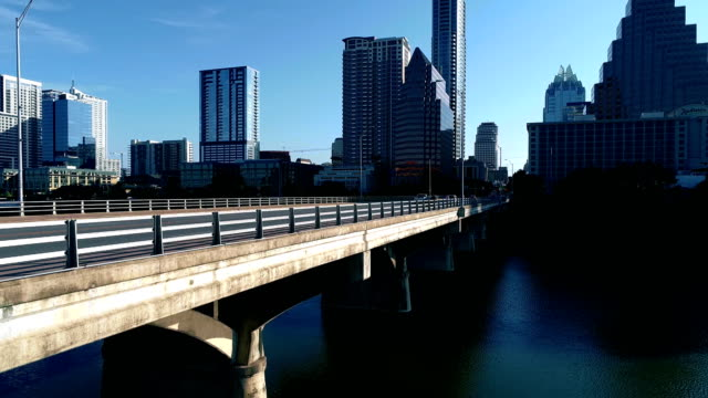 Next to Congress Avenue Bridge Austin Texas Capital View lowering down next to Bridge