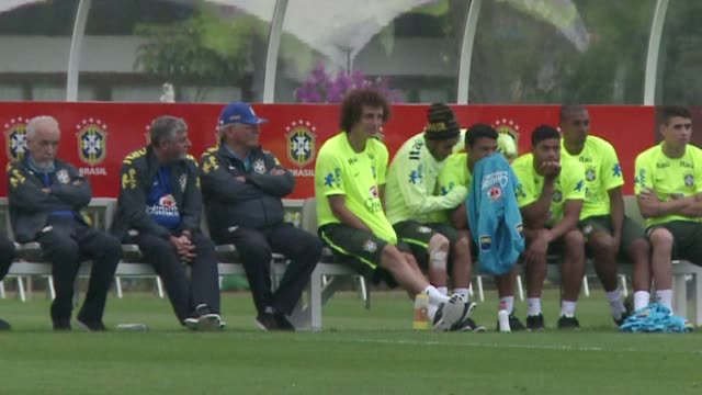 neymar is making good progress in his recovery from thigh and knee knocks ahead of fridays world cup quarter final against colombia brazils team... - thigh stock videos & royalty-free footage