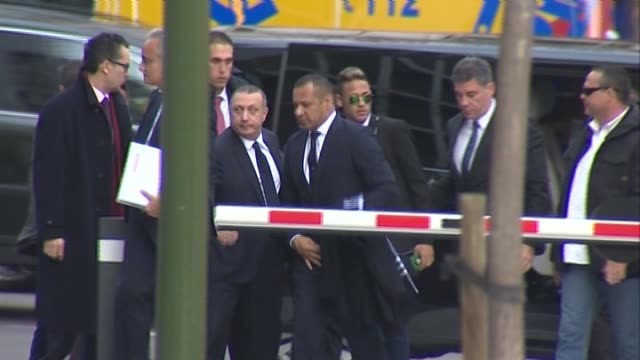neymar was giving evidence over allegations of corruption and fraud surrounding his transfer to fc barcelona - neymar da silva stock-videos und b-roll-filmmaterial