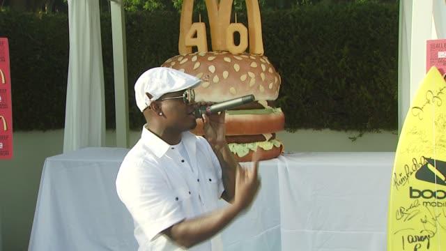 neyo at the 40th birthday party for mcdonald's_ big mac_ at malibu ca - big mac stock videos and b-roll footage