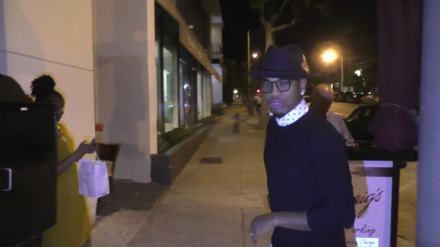 interview neyo comments on justin bieber's engagement to hailey baldwin outside craig's in west hollywood in celebrity sightings in los angeles - justin bieber stock videos & royalty-free footage
