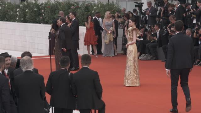 ni ni at 'the truth ' - red carpet arrivals - 76th venice film festival august 28, 2019 in venice, italy. - べネチア国際映画祭点の映像素材/bロール