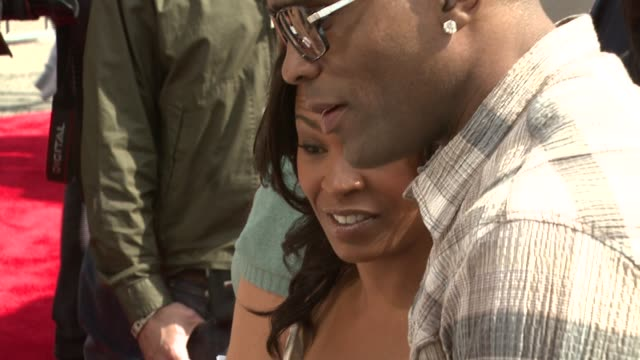 nia long and cuttino mobley at the 'are we done yet' premiere at the mann village theatre in westwood california on april 1 2007 - nia long stock videos and b-roll footage