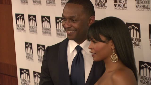 nia long and dwayne ashley at the thurgood marshall college fund's 21st anniversary award gala at new york ny - nia long stock videos and b-roll footage
