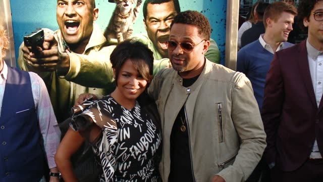 nia long and mike epps at keanu los angeles premiere at arclight cinemas cinerama dome on april 27 2016 in hollywood california - nia long stock videos and b-roll footage