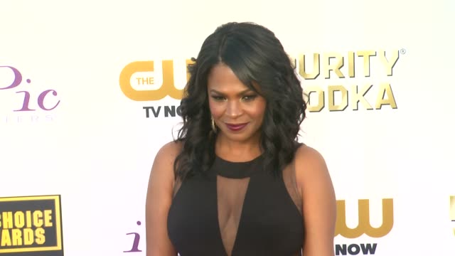 nia long at 19th annual critics' choice movie awards arrivals at the barker hanger on in santa monica california - nia long stock videos and b-roll footage