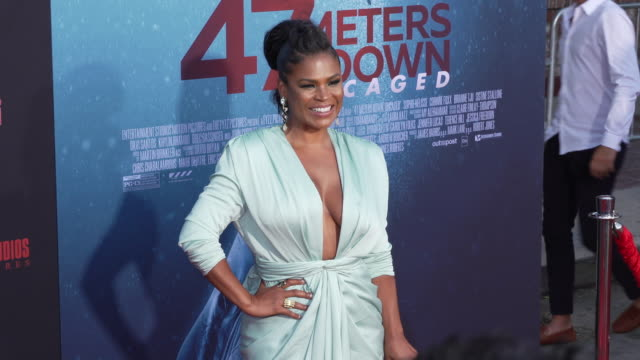 nia long at the los angeles premiere of 47 meters down uncaged on august 13 2019 in los angeles california - nia long stock videos and b-roll footage