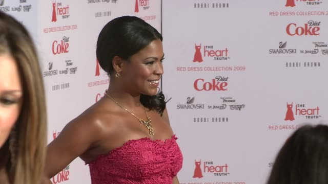 nia long at the mercedesbenz fashion week fall 2009 heart truth's red dress collection backstage at new york ny - nia long stock videos and b-roll footage