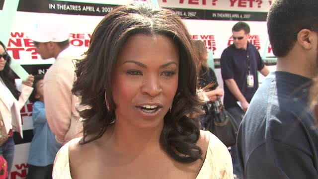nia long on how she is similar to her character on horror stories with contractors on playing different stages of pregnancy on working with ice cube... - nia long stock videos and b-roll footage