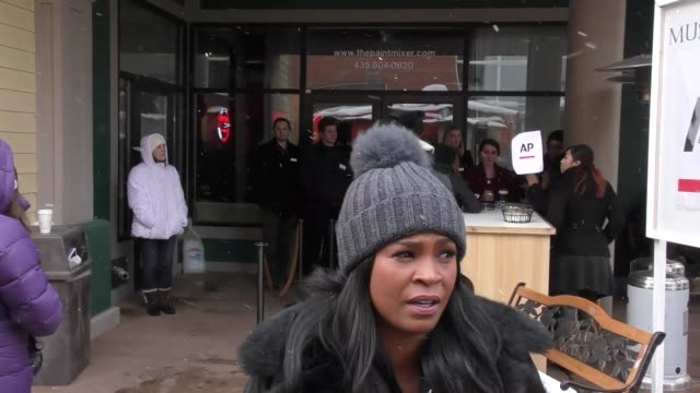 nia long on main street at the sundance film festival in park city at celebrity sightings on january 21 2017 in park city utah - nia long stock videos and b-roll footage