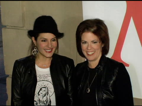 nia vardalos and elaine lafferty at the ms magazine 2004 women of the year arrivals at spider club in los angeles california on november 29 2004 - nia vardalos stock videos and b-roll footage