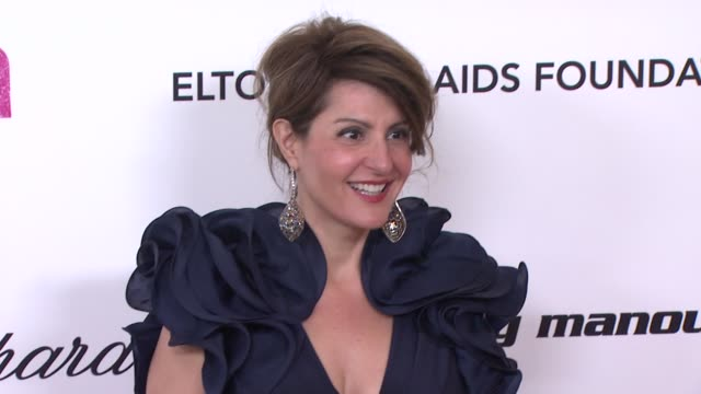 nia vardalos at the 19th annual elton john aids foundation academy awards viewing party part 2 at west hollywood ca - nia vardalos stock videos and b-roll footage