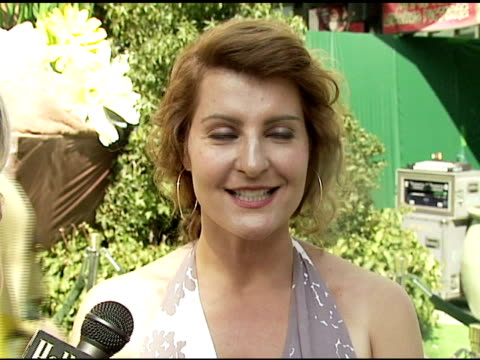 nia vardalos on being bullied in school when she was younger and how it made her stronger today at the 'the ant bully' premiere at grauman's chinese... - nia vardalos stock videos and b-roll footage