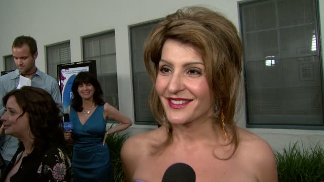 nia vardalos on bringing her whole family here how the movie was made for her how difficult it was to get permits to shoot at the ruins and how much... - nia vardalos stock videos and b-roll footage