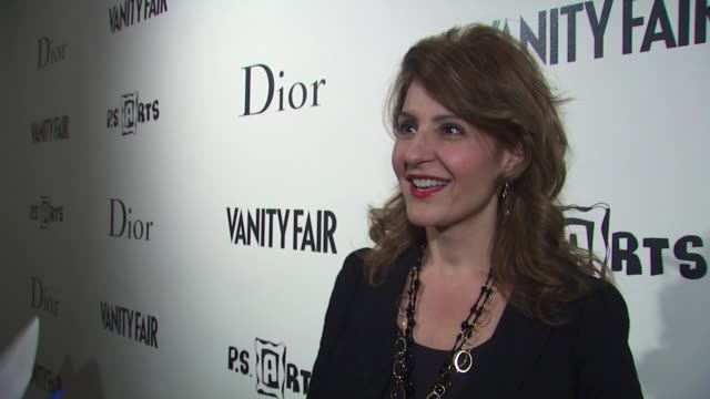 nia vardalos on coming out to support her stylist what she expects to see from stylist as the model if she thinks art and styling have similarities... - nia vardalos stock videos and b-roll footage