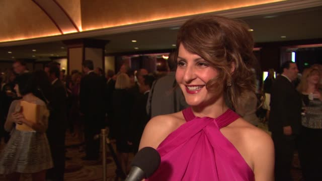 nia vardalos on the event her personal connection to ms at the the national multiple sclerosis society's 35th annual dinner of champions at century... - nia vardalos stock videos and b-roll footage