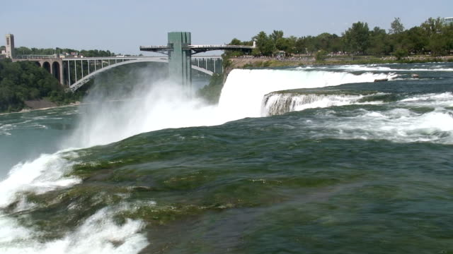niagara-3-19: / hd 1080 60i - fluss niagara river stock-videos und b-roll-filmmaterial