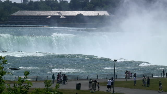 niagara 8-46: / hd 1080 60i - fluss niagara river stock-videos und b-roll-filmmaterial