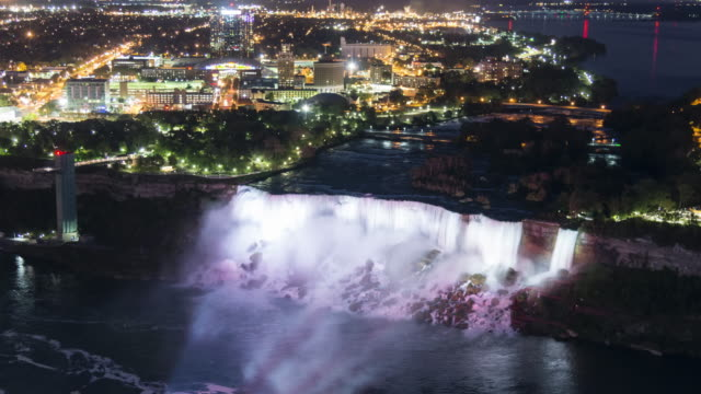 niagara falls: american falls - ナイアガラ滝点の映像素材/bロール