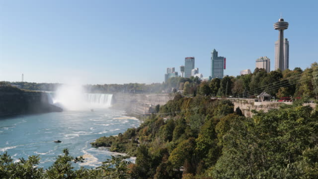niagara falls and city uhd 4k video - niagara falls stock videos and b-roll footage