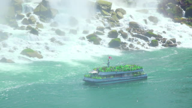 Niagara Falls, Canada: The Hornblower Cruise passing in front the American Falls