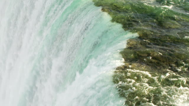 niagara falls from aerial drone - niagara falls stock videos and b-roll footage