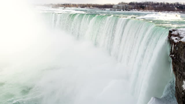 niagara falls from aerial drone - niagara falls stock videos & royalty-free footage