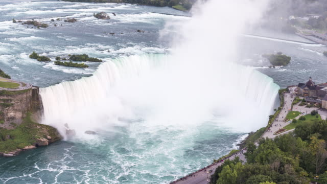 niagara falls: horseshoe falls - fluss niagara river stock-videos und b-roll-filmmaterial