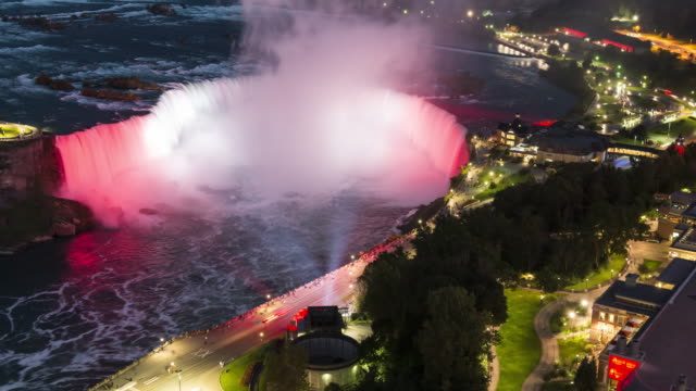 niagara falls: horseshoe falls - horseshoe falls niagara falls stock videos and b-roll footage