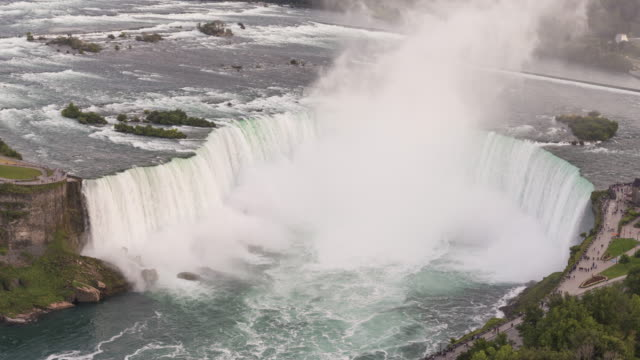 vídeos de stock e filmes b-roll de niagara falls: horseshoe falls - rio niágara