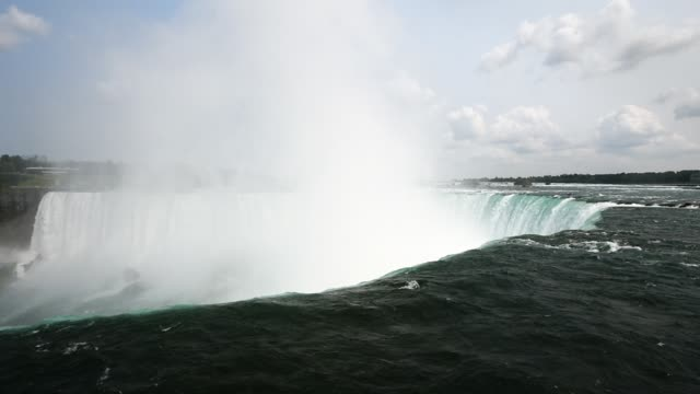 stockvideo's en b-roll-footage met niagara falls in ontario canada shot on the 16th of october 2014 - passagiersboot