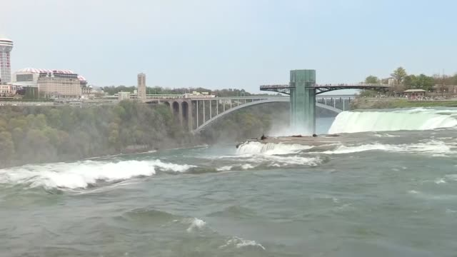 niagara falls ny broll of niagara falls national park - fluss niagara river stock-videos und b-roll-filmmaterial