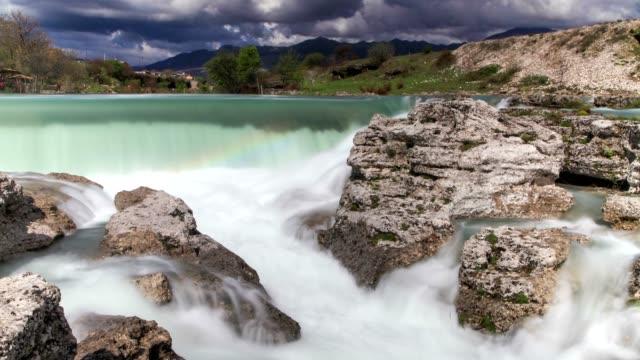 niagara falls of montenegro (slide) - eastern european culture stock videos & royalty-free footage