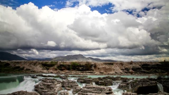 niagara falls of montenegro (panaromic wiew) - eastern european culture stock videos & royalty-free footage