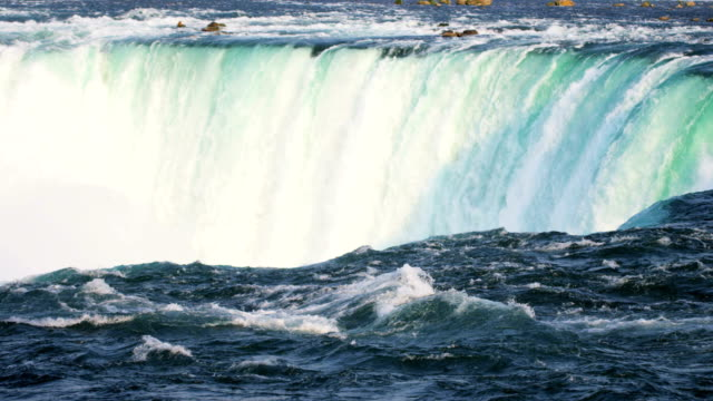 niagara falls producing clean natural renewable hydropower energy - niagara falls stock videos and b-roll footage