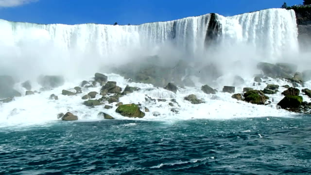 niagara falls, seen from the bottom - niagara falls stock videos and b-roll footage