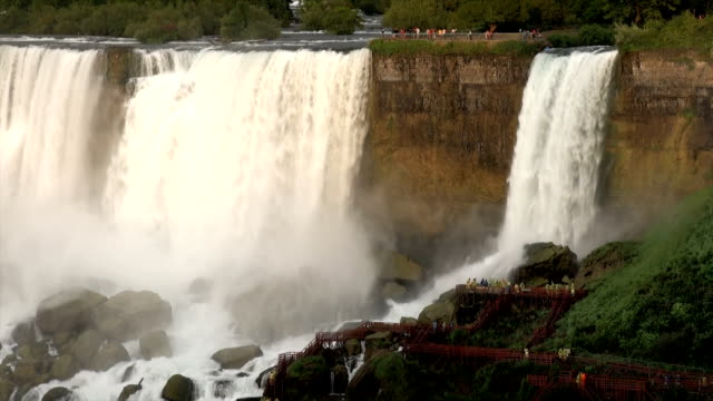 niagara falls sunset - niagara falls stock videos & royalty-free footage