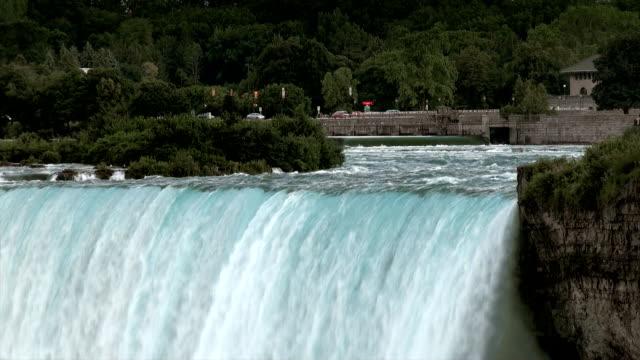 niagara falls sunset - niagara falls city new york state stock videos & royalty-free footage